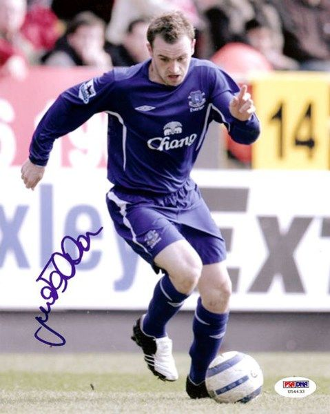 This is a 8x10 Photo that has been hand signed by James McFadden. It has been authenticated by PSA/DNA and comes with their ssticker and matching certificate.