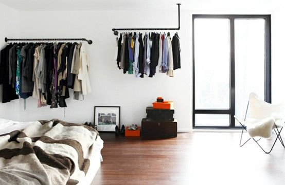pipes: Ideas, Bedrooms Storage, Closets Organic, Clothing Storage, Clothing Racks, Closets Storage, Diy Clothing, Echo Parks, Pipe