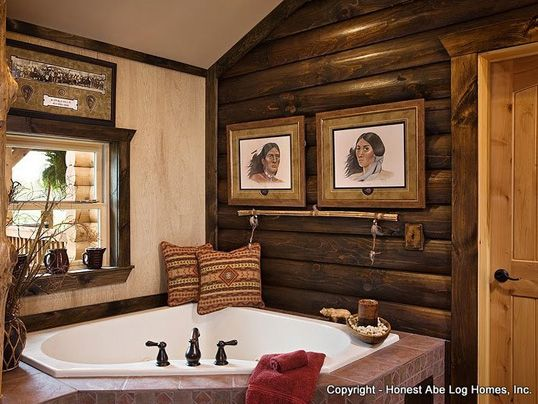 log home bathrooms bear s den log homes specializes in log home construction and feature