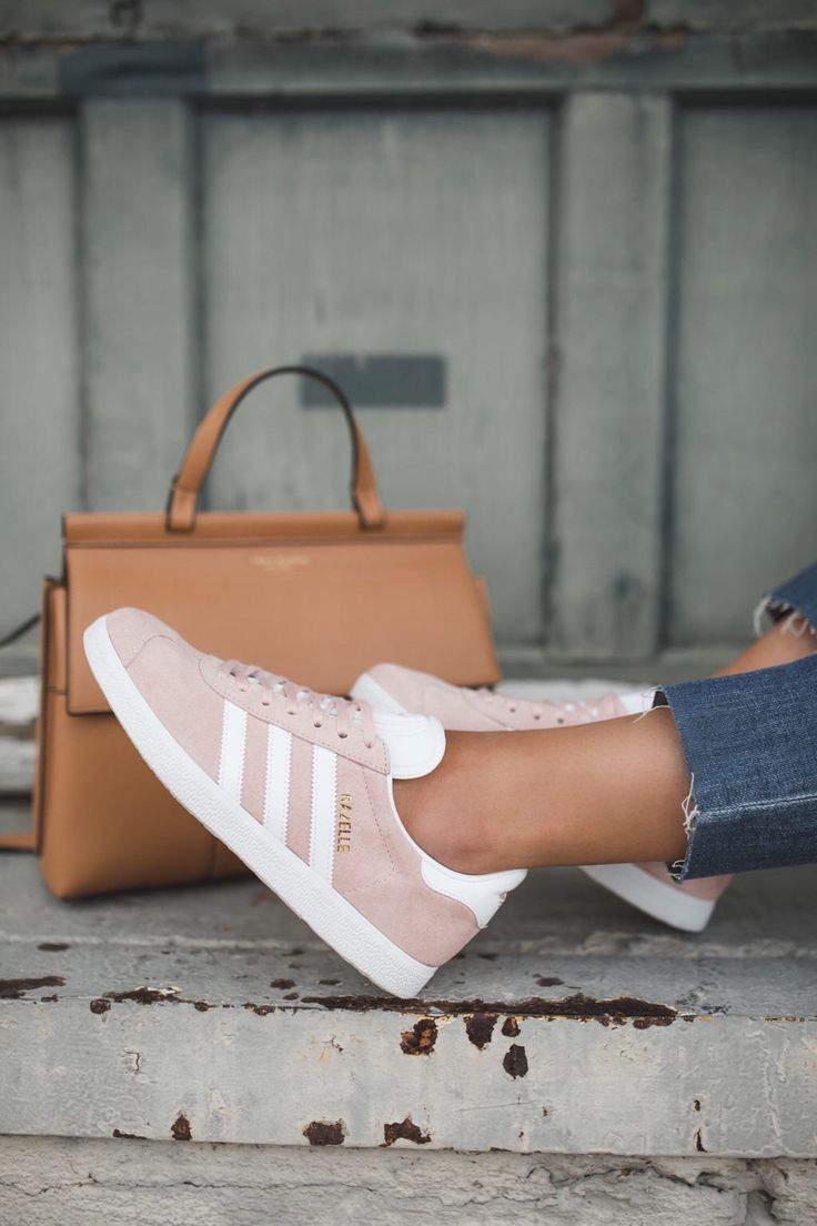 Pink tennis shoes are having a major moment right now. And I'm loving it! I've been anxious to get my hands on a pair of the pink Adidas Gazelle Sneakers and after waiting several weeks for them to arrive, I am happy to share that they are now restocked (and even available in several colors …
