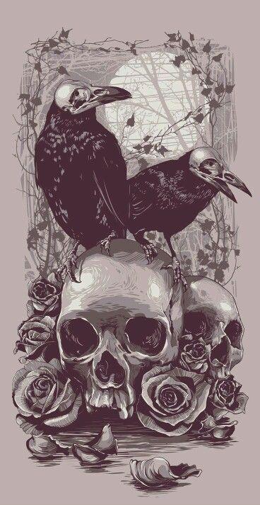 Skull cuervo rose