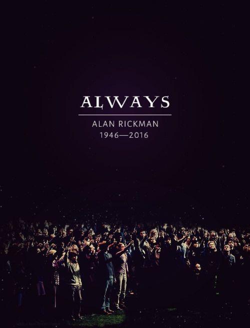 """""""Always"""" said Snape dans 15 dessins  en hommage à Alan Rickman par les fans d'Harry Potter ! Quels sont les plus originaux ?"""