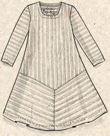 Robe rayée en éco coton–Karin la danseuse–GUDRUN SJÖDÉN – Kläder Online & Postorder