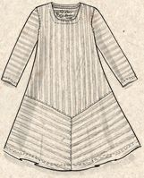 Robe rayée en écocoton–Karin la danseuse–GUDRUN SJÖDÉN – Kläder Online & Postorder