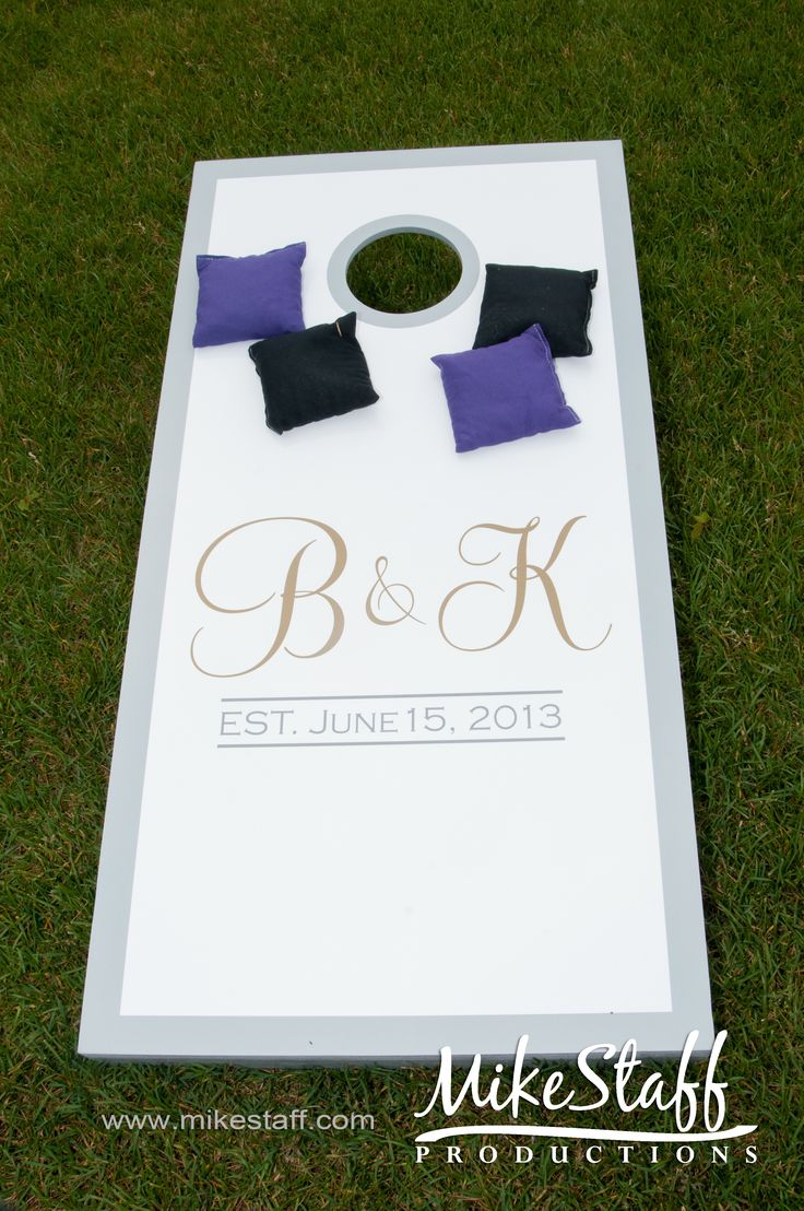 This is cute for a reception. Maybe even a washers or can jam to go with it