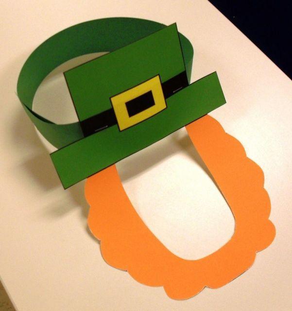 Leprechaun Mask Craft | St patricks day crafts for kids ...