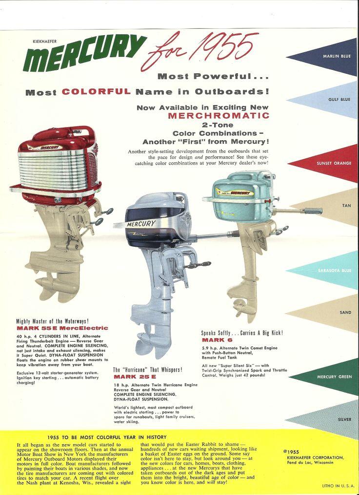 1955 Mercury Outboard Brochure