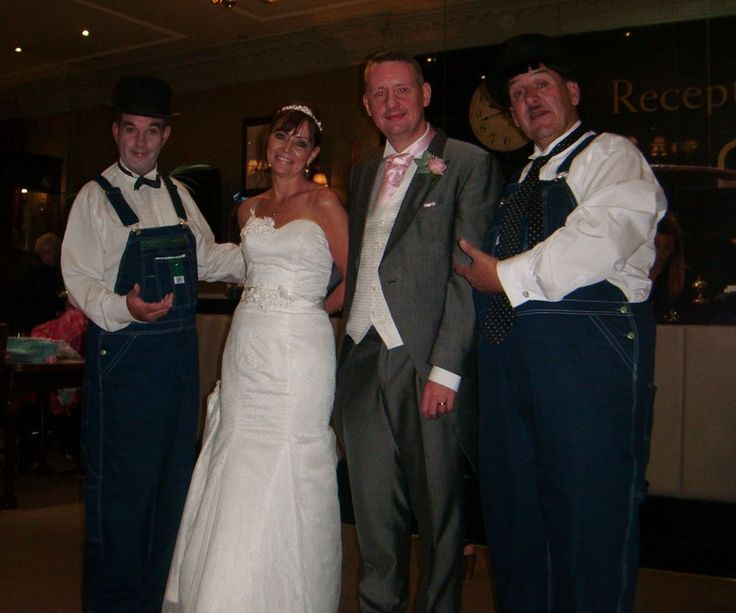 Wedding Entertainment - Laurel & Hardy Lookalikes will welcome your guests, pose for photos, mix and mingle and entertain with close-up magic. Tel: 07977 008 546 / graham-rob@sky.com /