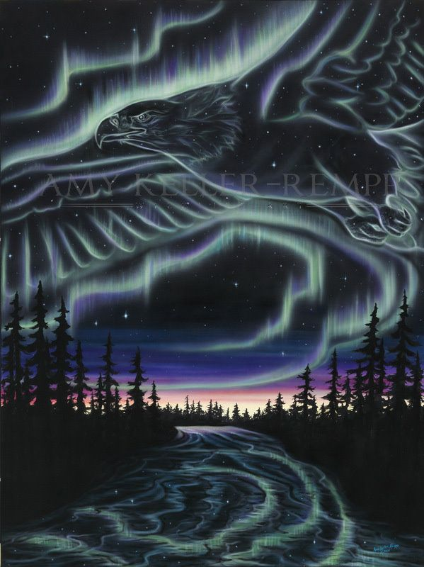 """Sky Dance Series - """"Eagle Over The Snye"""" by Amy Keller-Rempp Art. 36"""" by 48""""…"""