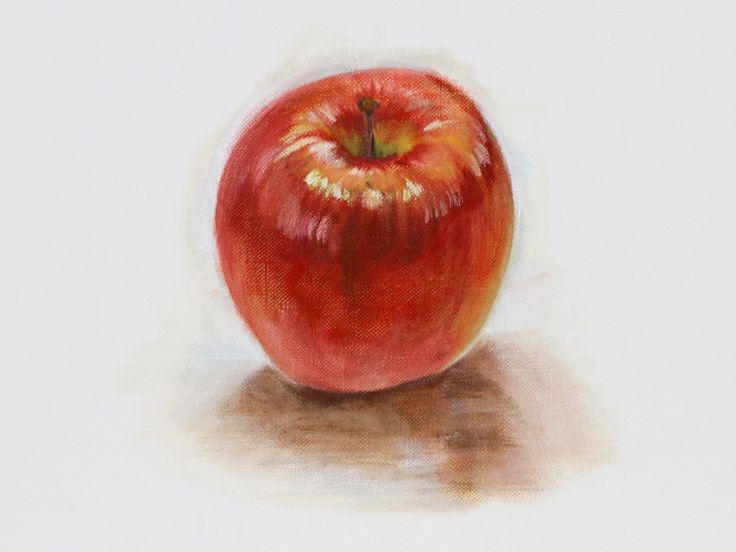Apple Oil painting リンゴの描き方(油絵)