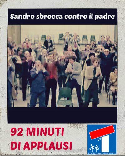 Sandro sbrocca contro il padre: finalmente! 92 minuti di applausi.  #unpostoalsole #upas #raitre #soap #sandroferri #citazionefilm #citazione #applausi
