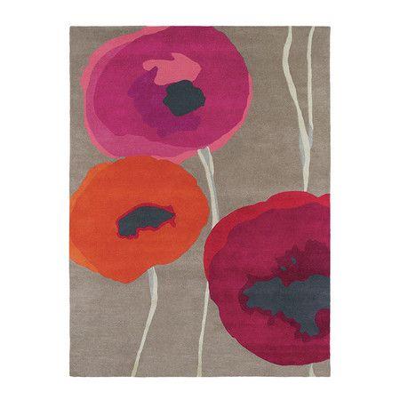 Sanderson - Poppies Red/Orange Rug - 200x280cm