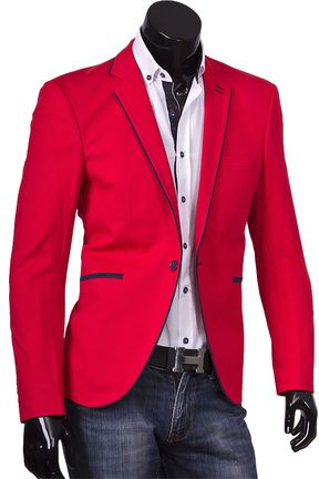 Купить Красный пиджак под джинсы фото недорого в Москве