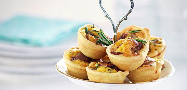 Bacon and egg mini tarts recipe