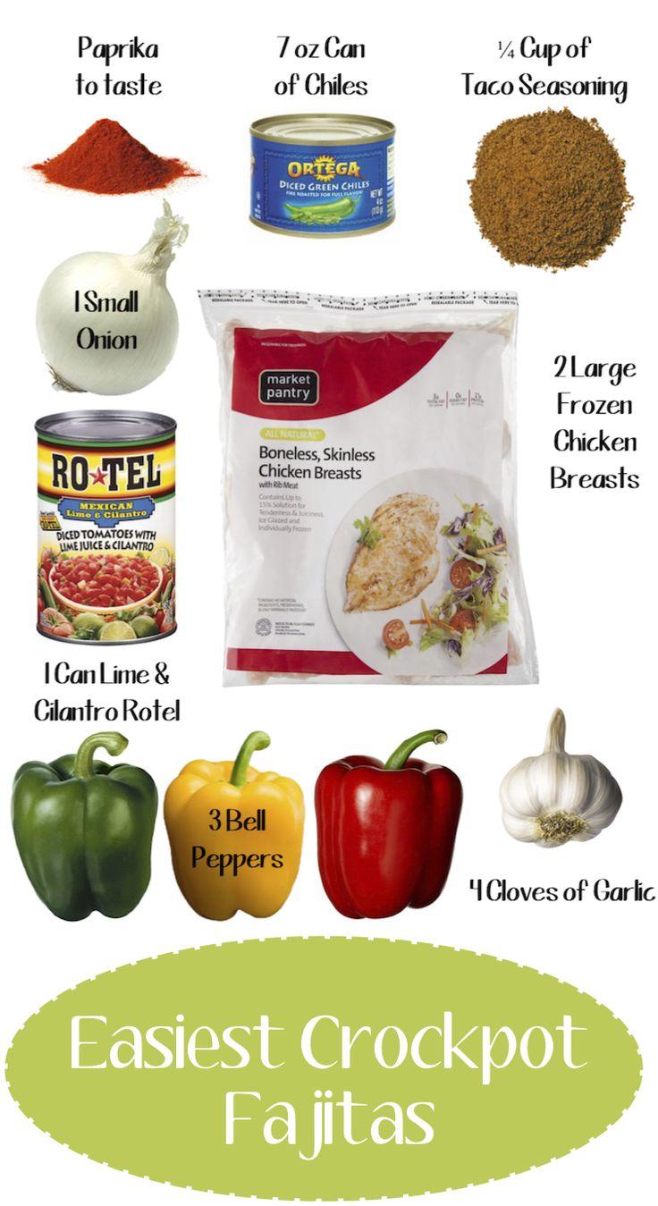 Easy Chicken Crockpot Fajitas