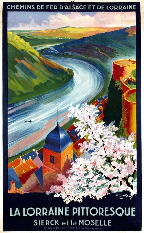 Vintage Travel Poster - France - André Galland (1886-1965): La Lorraine Pittoresque 1930