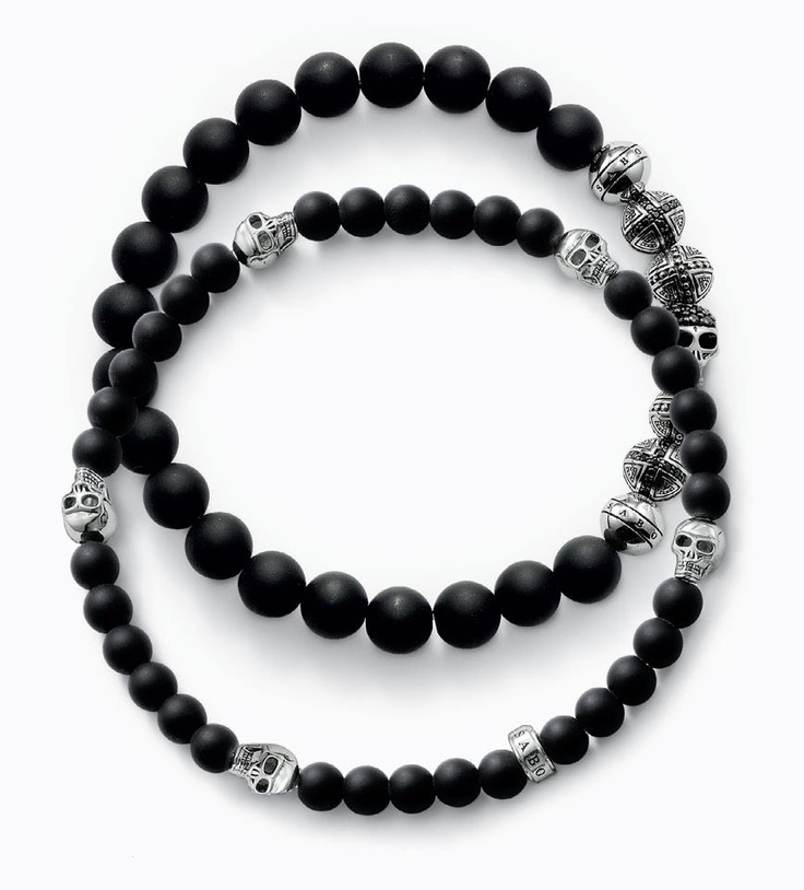 And these too! Definitley going to buy one of these :D        THOMAS SABO 'Rebel at Heart' skull bracelets. #love #sterlingsilver
