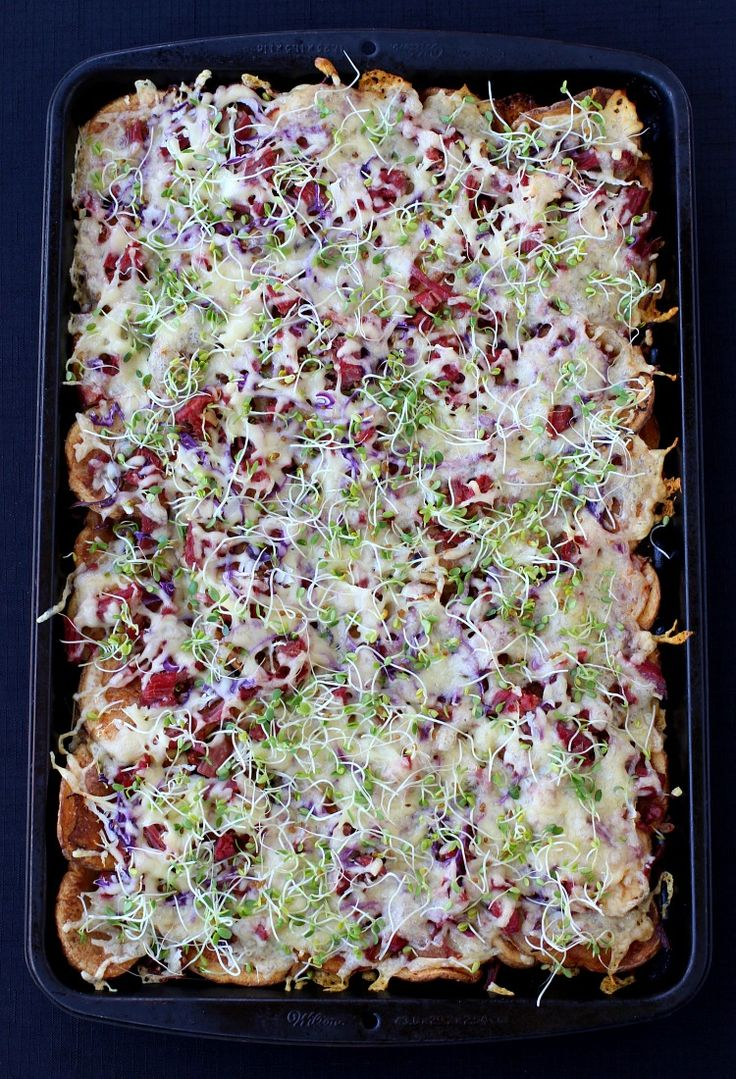 Corned Beef Irish Nachos are perfect for appetizers or dinner, awesome recipe for leftover corned beef!