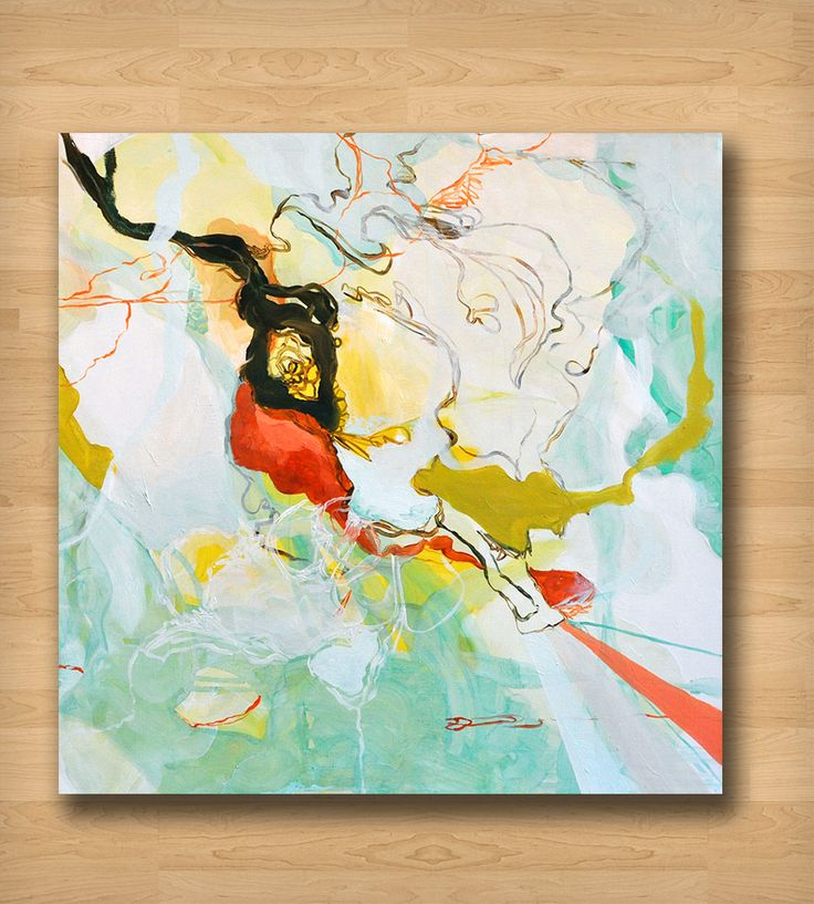 Green, White & Red Abstract Art Print   Art Prints   Britt Bass   Scoutmob Shoppe   Product Detail