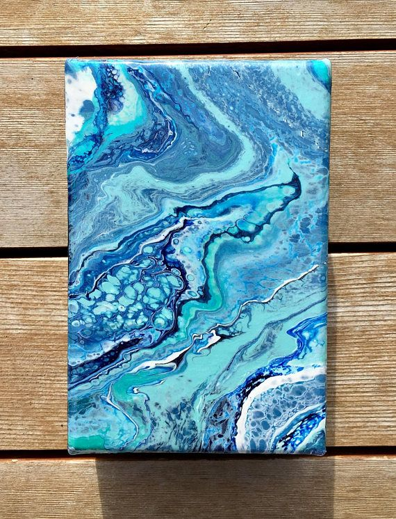 Fluid Acrylic Painting Mini Sky Walker 4 Fluid Acrylic Painting