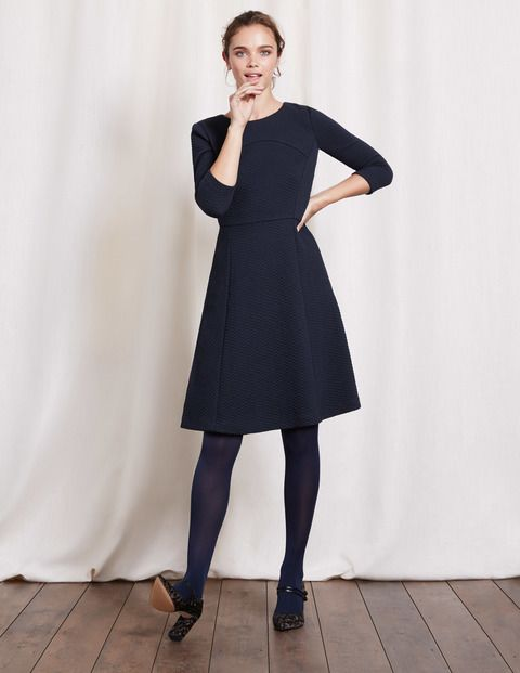 Curve & Flare Dress WW113 Day Dresses at Boden size 16 Navy please!