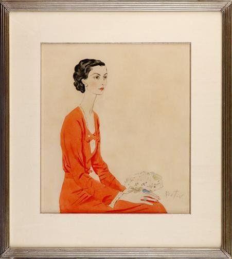 Marie-Blanche de Polignac. Drawing by Cecil Beaton, 1936.