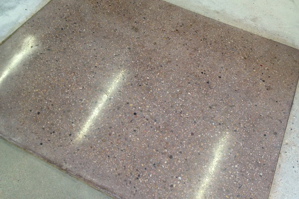 23 best diy terrazzo flooring images on pinterest for Exposed concrete floor