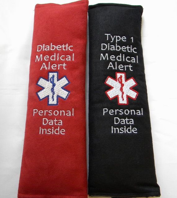 Medical Alert Seat Belt Seat Belt Cover by SewGoodbyDolores