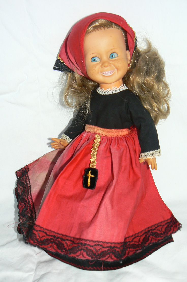 Ratti doll,Tjorven  in original outfit  (pusle-doll)