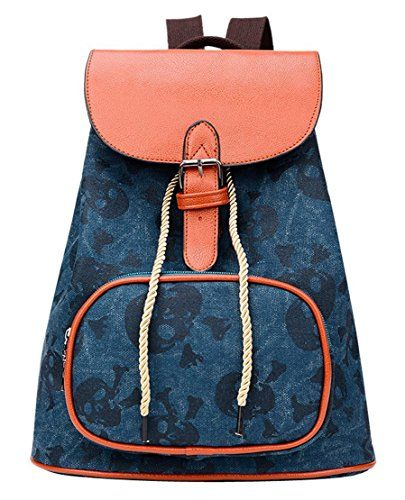 New Trending Backpacks: Panegy Womens Retro Skull Printing Backpack Casual Canvas Bag Shoulders Bag-Blue. Panegy Women's Retro Skull Printing Backpack Casual Canvas Bag Shoulders Bag-Blue  Special Offer: $30.61  222 Reviews Features:Organizational compartments for pens, keys, and cell phoneHigh capacityHigh quality fabrics Specifications:Material: CanvasAsian Size: 28 * 16 *...