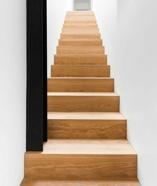 De 25 populairste idee n over behang trappen op pinterest for Open trap bekleden met hout