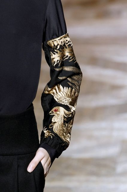 By Belgian fashion designer Dries Van Noten; RTW fall 2012 V
