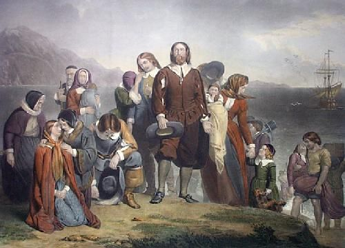 Landing of the Pilgrim Fathers by Charles Lucey