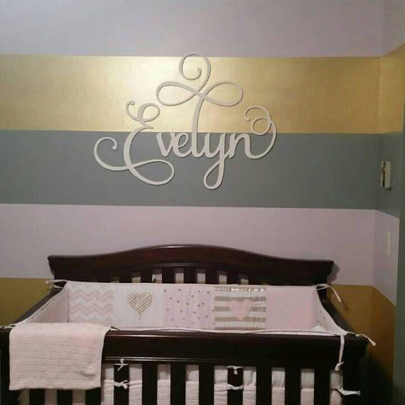 Signe de nom de crèche pour bébé  lettres pour chambre de
