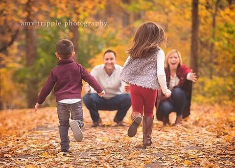 Fall Family Photo Idea by Amy Tripple Photography