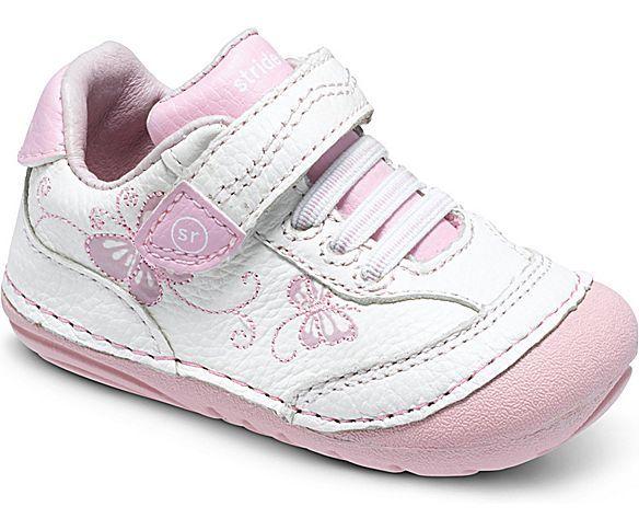 Mellow Be - Zapatos primeros pasos de piel sintética para niña, color rosa, talla 22 EU Niño