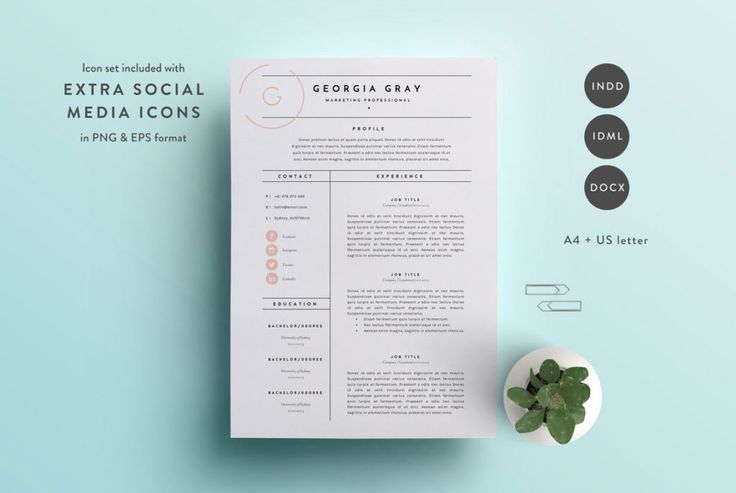 A stunning 3 page CV Template, ready to help you land your dream job!  #CV #Template #Resume #UK #Jobseeker #Jobhunting #JobSearch #Design #CVtemplates #Career #A4