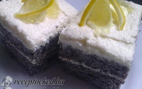 Mákos sütemény citromkrémmel