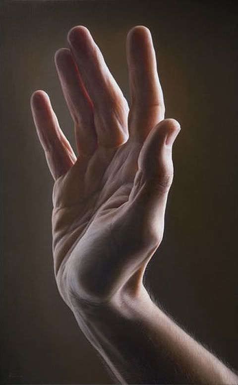Painting By Javier Arizabalo. Illusion: It is amazing the number of talented hyperrealist artists out there. In this post, you can see another fine example: the work of Javier Arizabalo. The way he paints skin textures is just exquisite, and his lighting is beautiful in each composition. (Artwork © Javier Arizabalo)