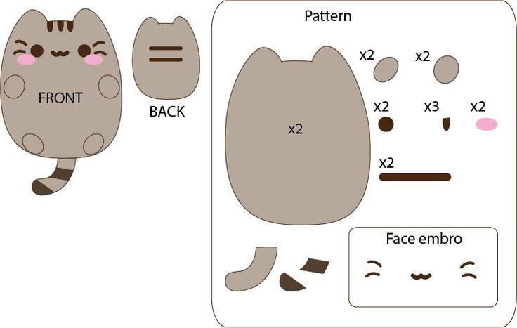 Pusheen (cat from Facebook) by Mokulen22