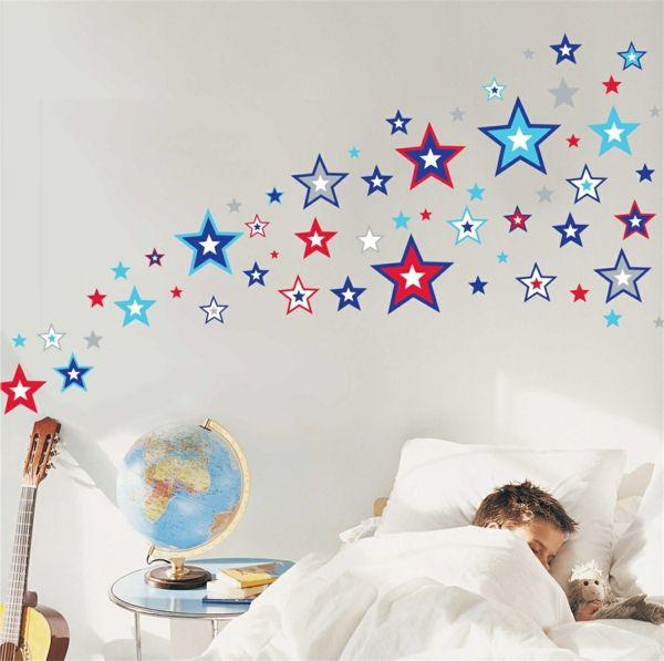 Trend sterne wandsticker wandtattoos kinderzimmer w nde dekorieren