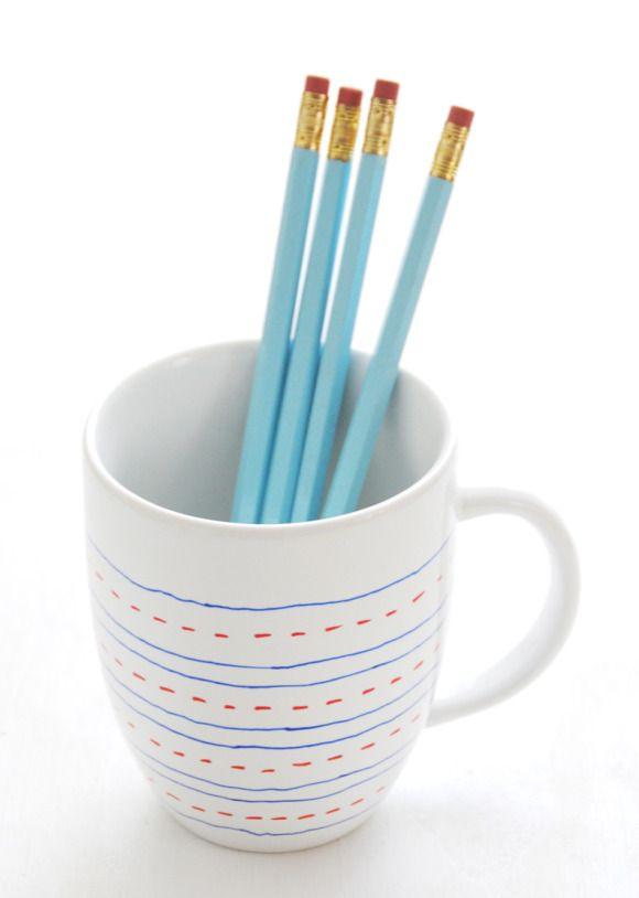 DIY Simple Custom Painted Mugs for Teachers + More -via Creature Comforts