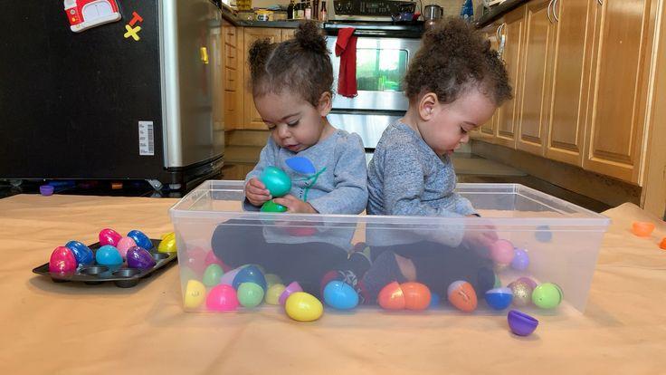 Easy Easter Egg Sensory Bin