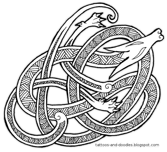 Tattoos and doodles: Knot a dragon...