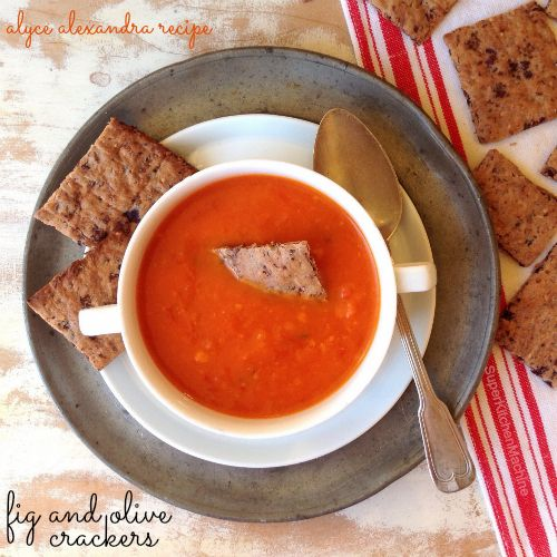 """perfect fig-olive crackers! Thermomix #recipe from alyce alexandra's """"Quick fix every occasion"""""""