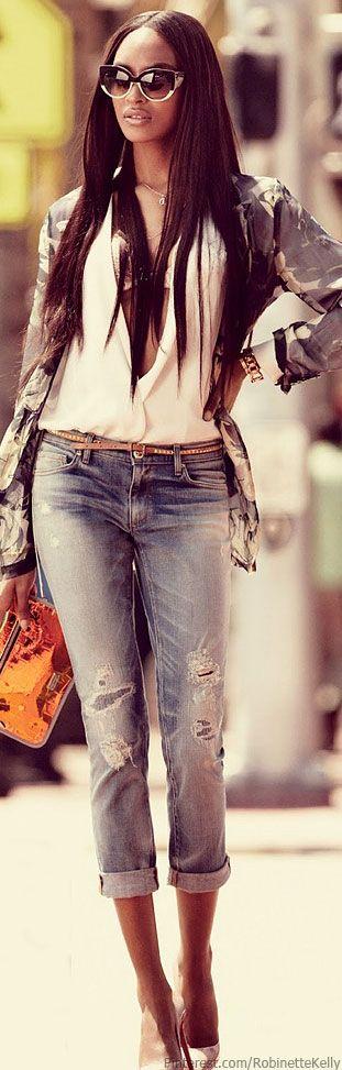 Street Style, Jourdan Dunn   Juicy Couture Jeans
