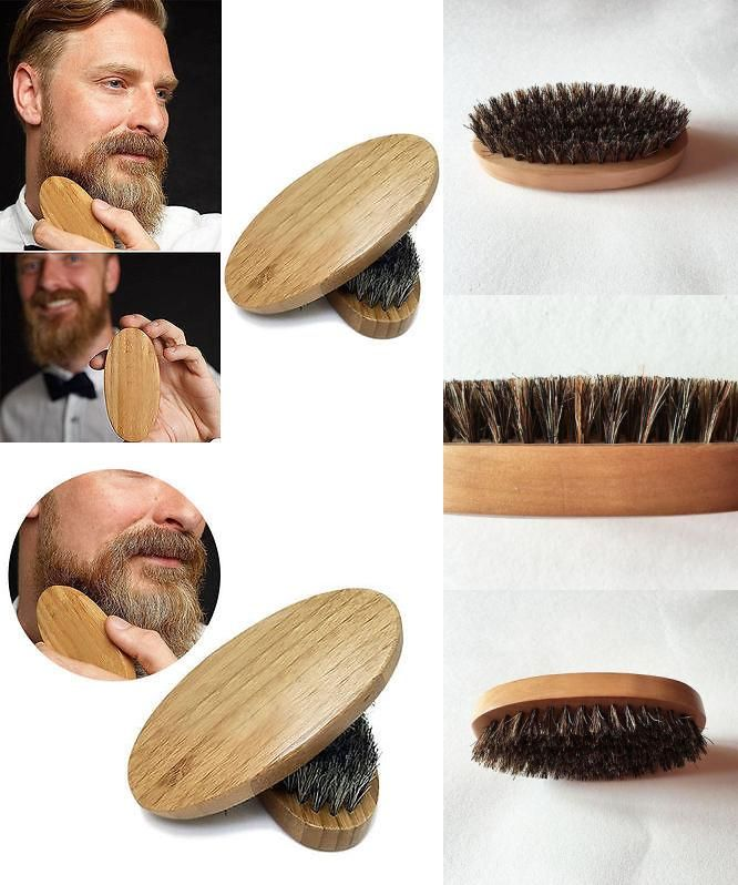 [Visit to Buy] Natural Boar Bristle Beard Brush For Men Bamboo Face Massage That Works Wonders To Comb Beards and Mustache free shipping #Advertisement