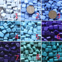 Diy Mosaic particles 200g Square Mosaic tiles 27 colors Glass Marble mosaic beads, DIY mosaic flowerpot /lantern Garden ornament(China (Mainland))