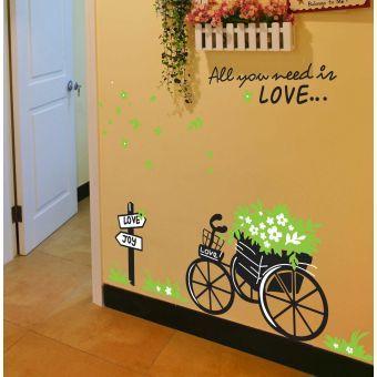 Tatuajes de pared Bike Pegatinas bicicletas etiqueta de la pared Decoraciónación para el Hogar Bricolaje Mural Imagen del cartel Vinilo removible papel de la pared multicolor