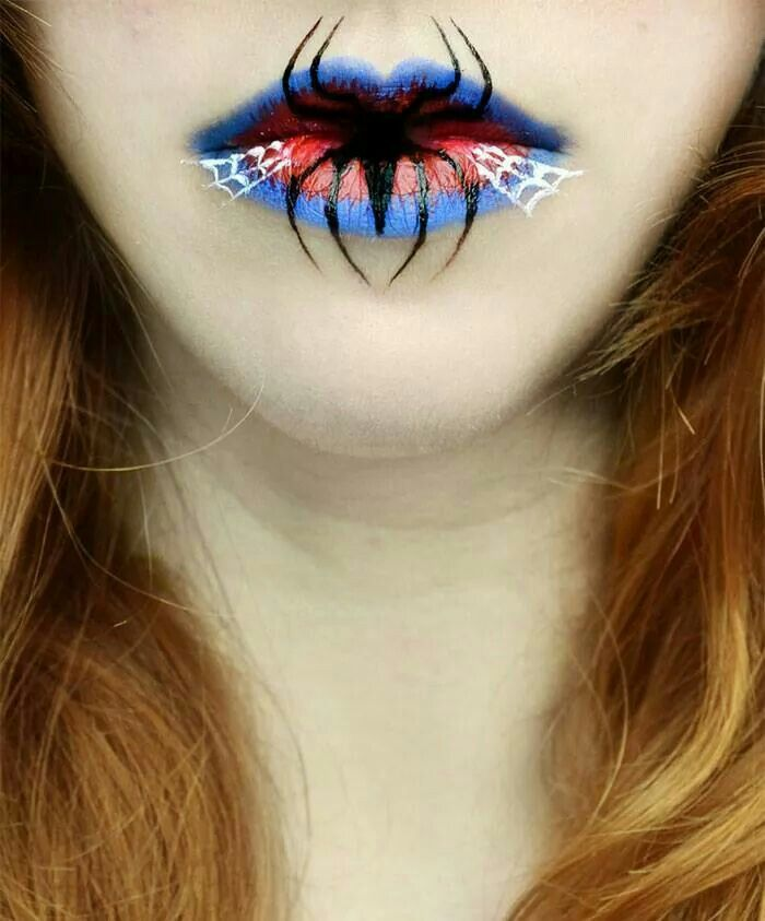 Spider man lips